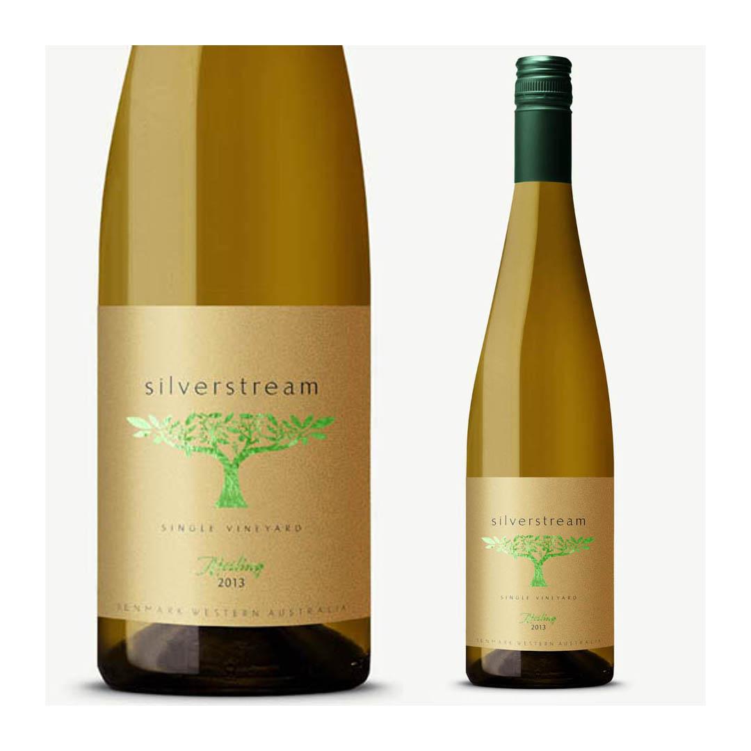 Silverstream wine label