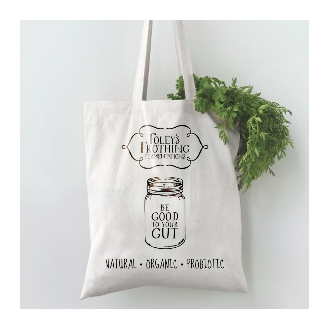 Foley's Frothing Fermentations carry bag placement print