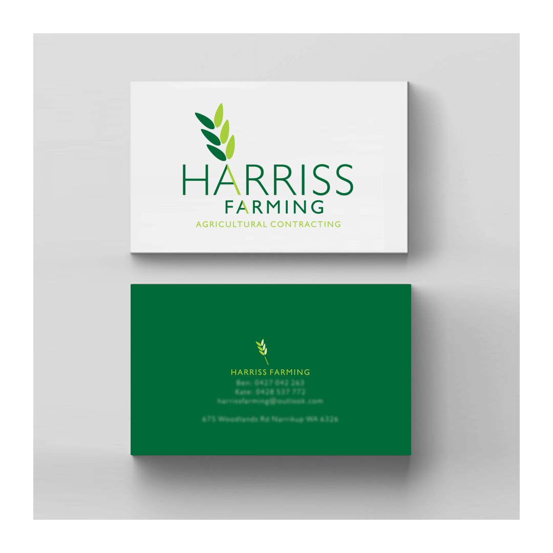 Harriss Farmng business cards