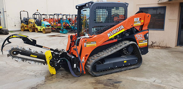 Hireways-75HP-Kubota-SVL75-Track-Loader-With-Trencher-Attachment-(2)-Perth
