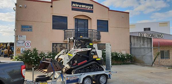 Hireways-Terex-Skid-Steer-trailer-float-hire-Perth