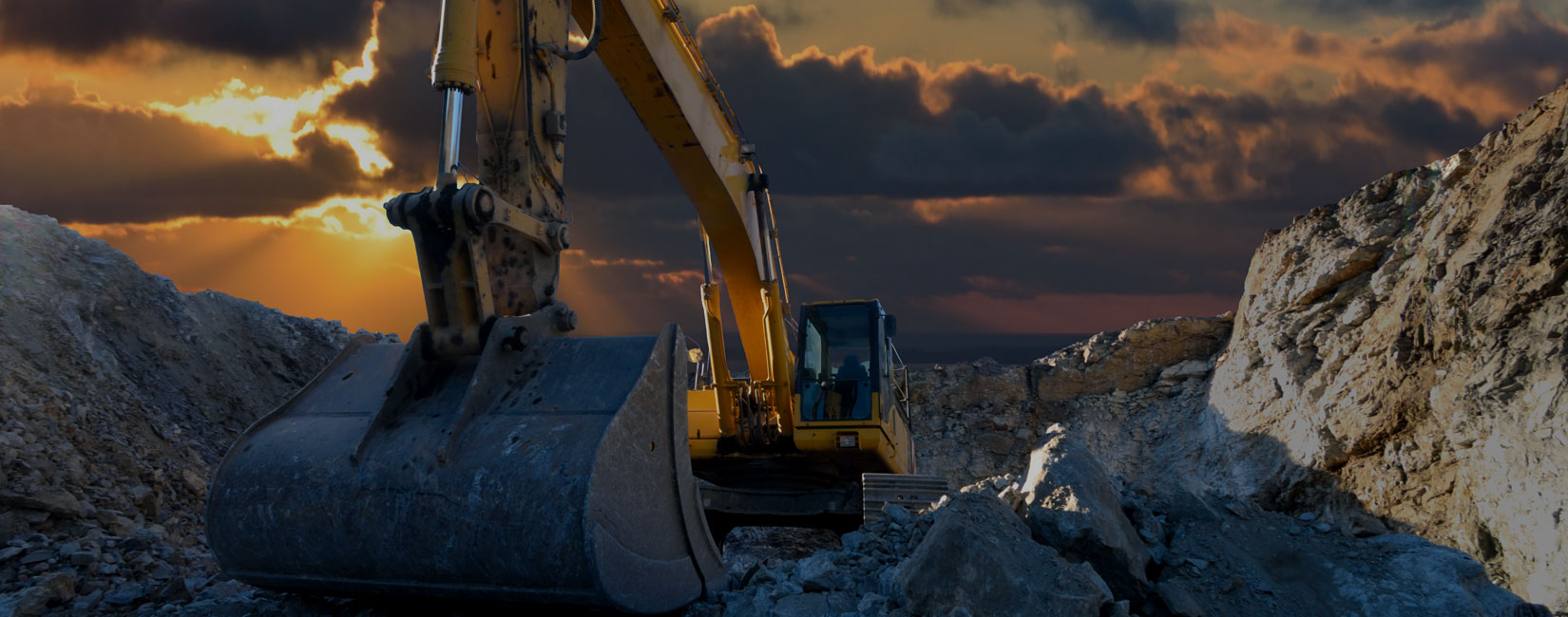 Hogg Brothers excavator-working-sunset