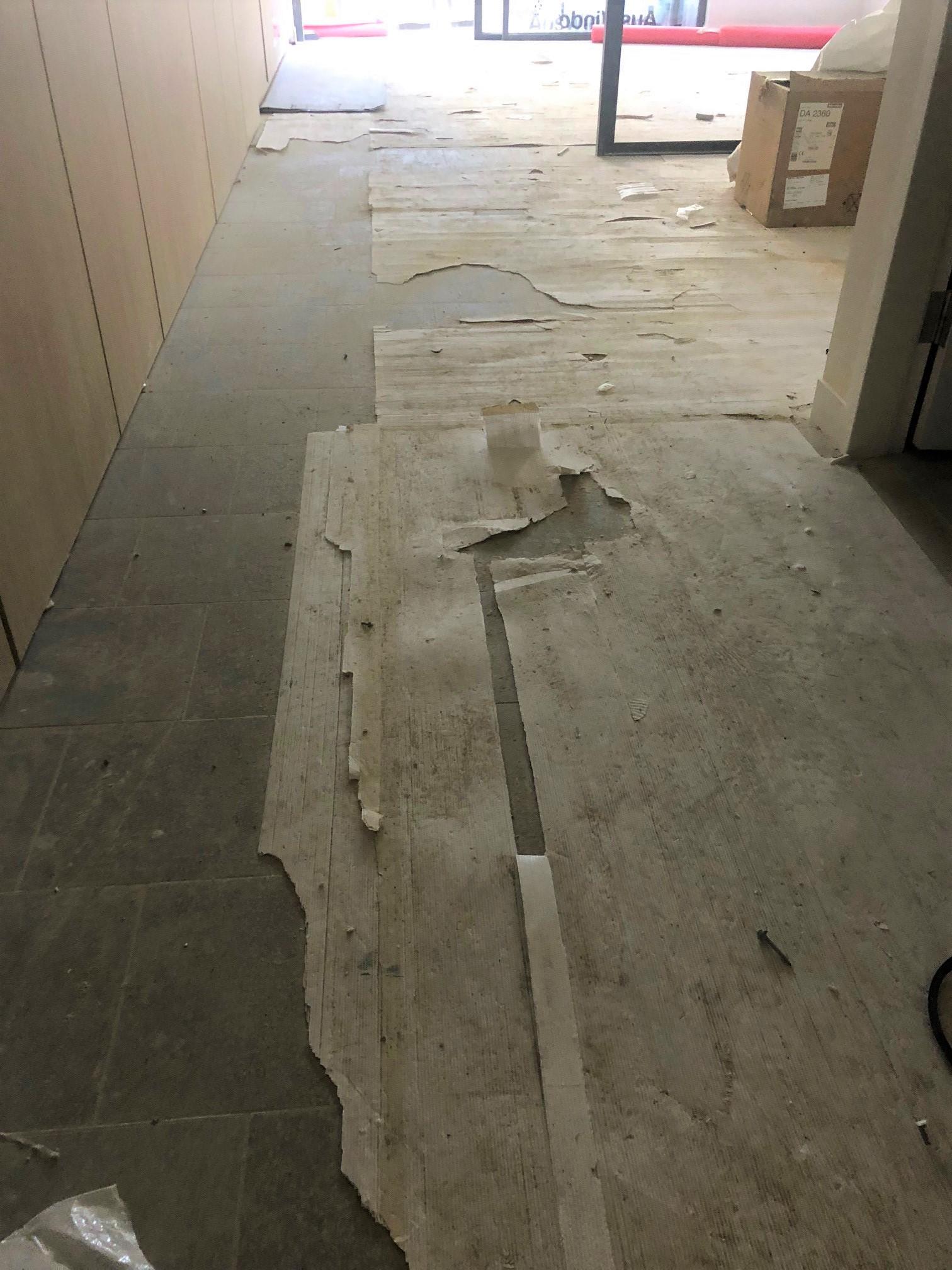 Honcho Supplies - Rob's Blog2. Image showing damaged cheap corflute, basically providing no surface protection