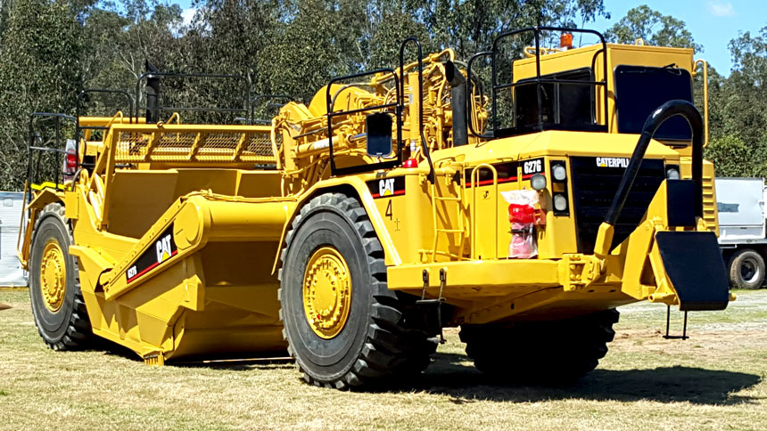 Hope Civil Caterpillar 627G Twin Powered Scraper side profile