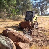 Hume Hire Bobcat rock clearing
