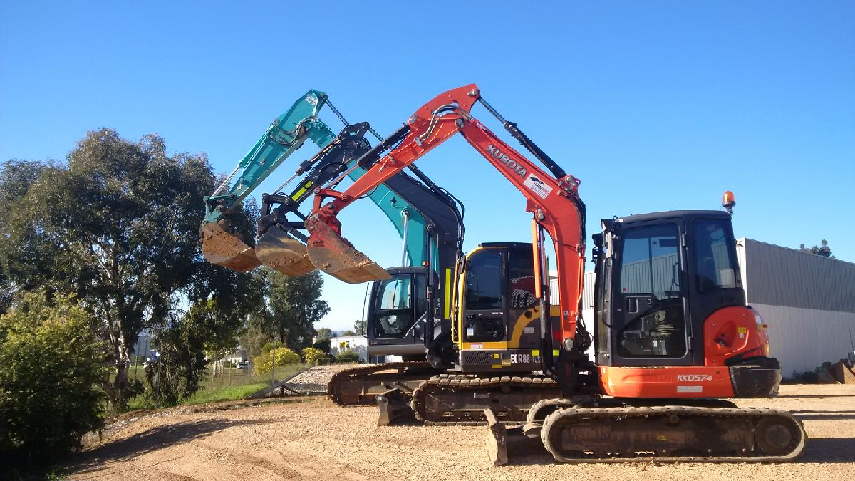 Hume Hire excavator fleet