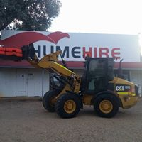 Hume Hire front loader with truck logo
