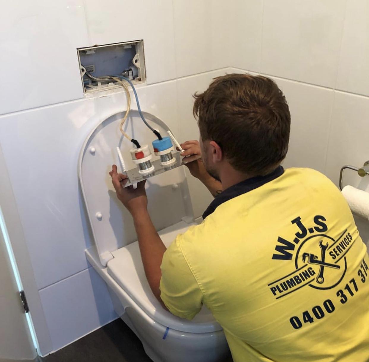 Repaired toilet