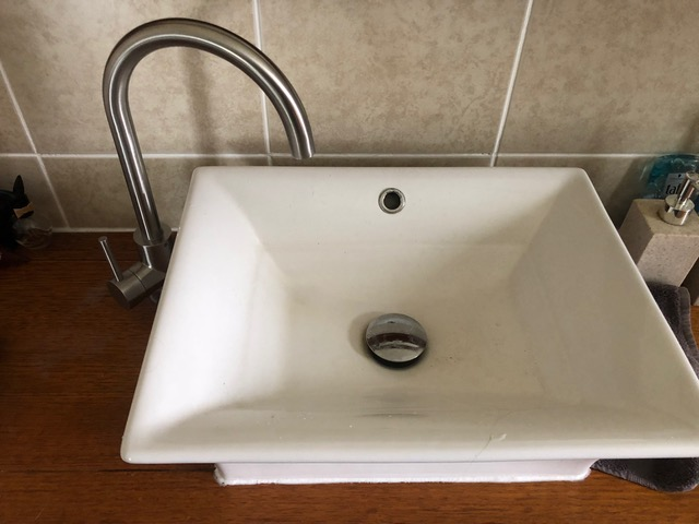 new basin tap due to old one leaking