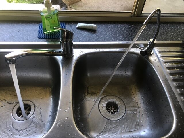New sink mixer and billi tap