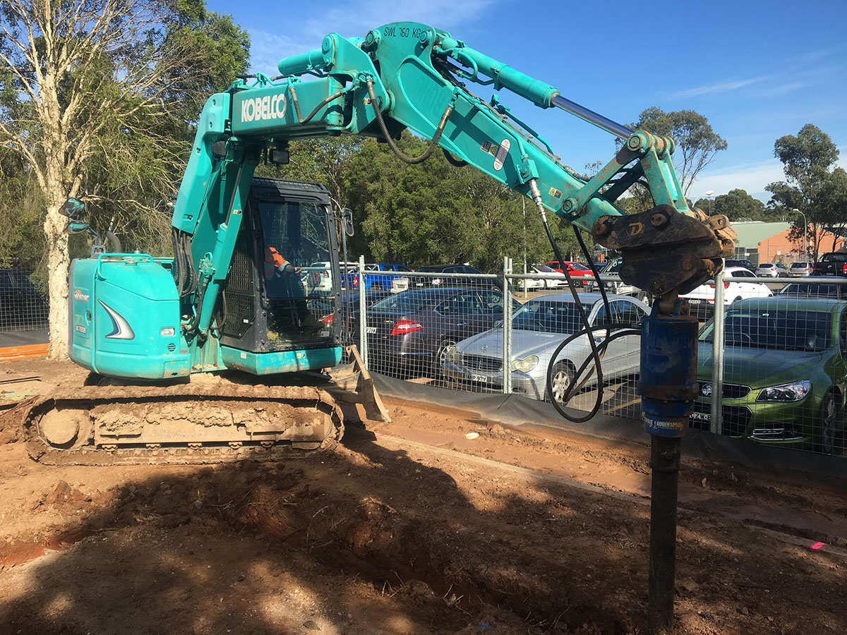 Kennedy Hire - excavators carpark