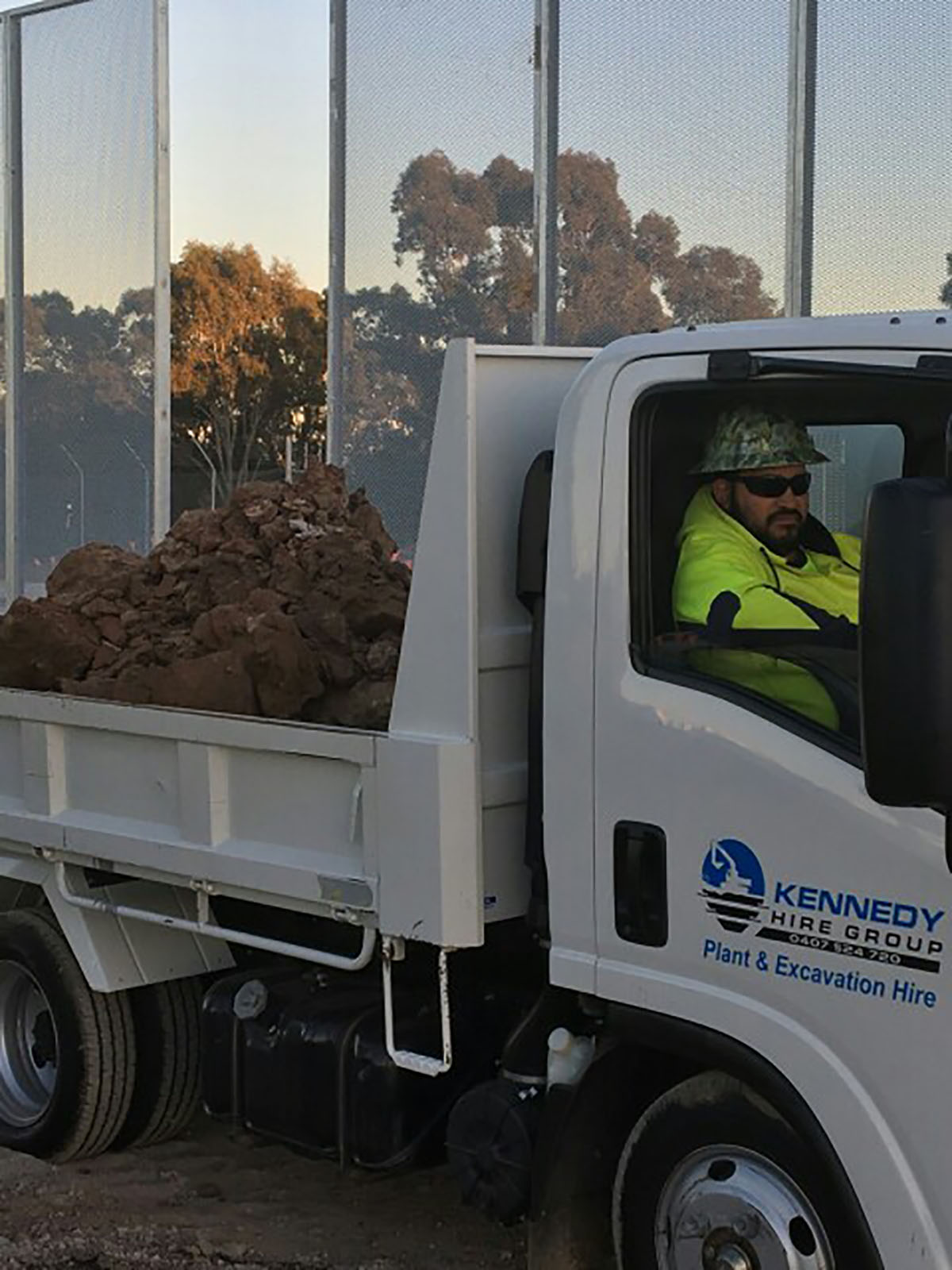 Kennedy Hire - drump truck with operator