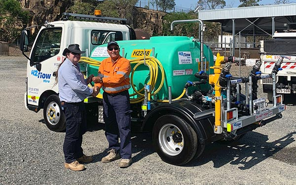 H2flow Hire handing the keys to our new 2,000 litre water truck for the Brisbane City Council's Urban Amenities team