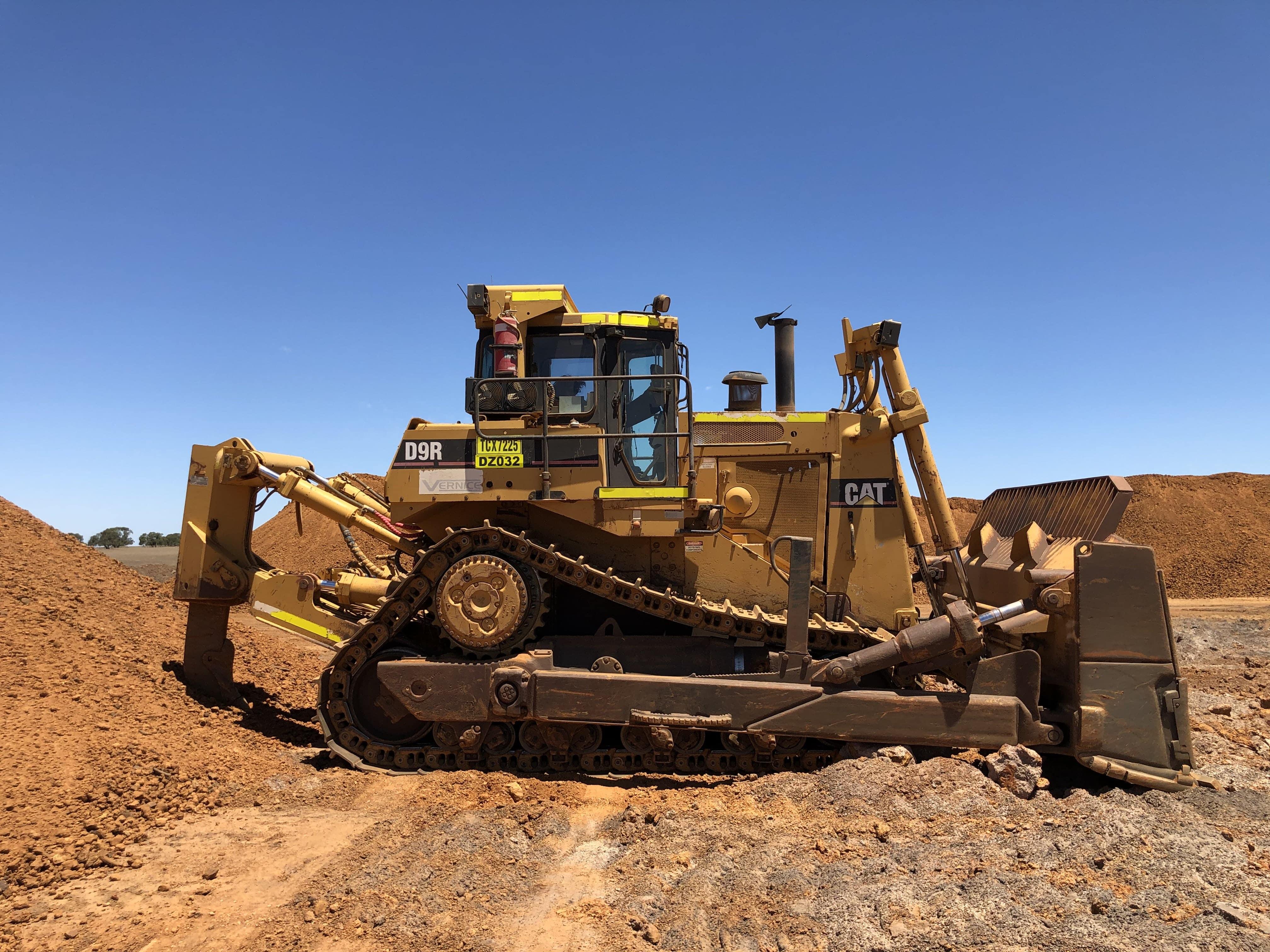 D9 dozer hire vernice western australia