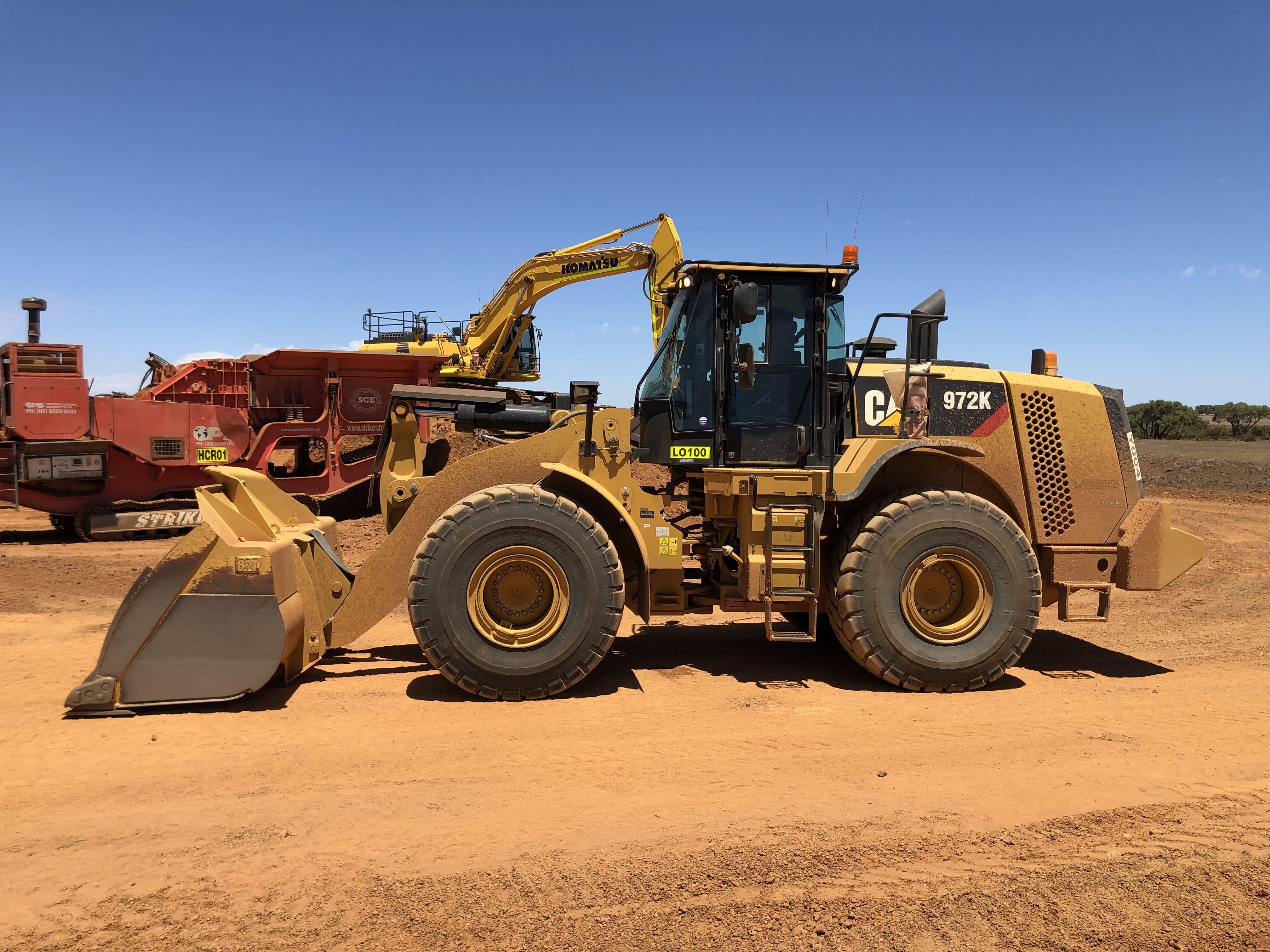 45t loader hire vernice western australia