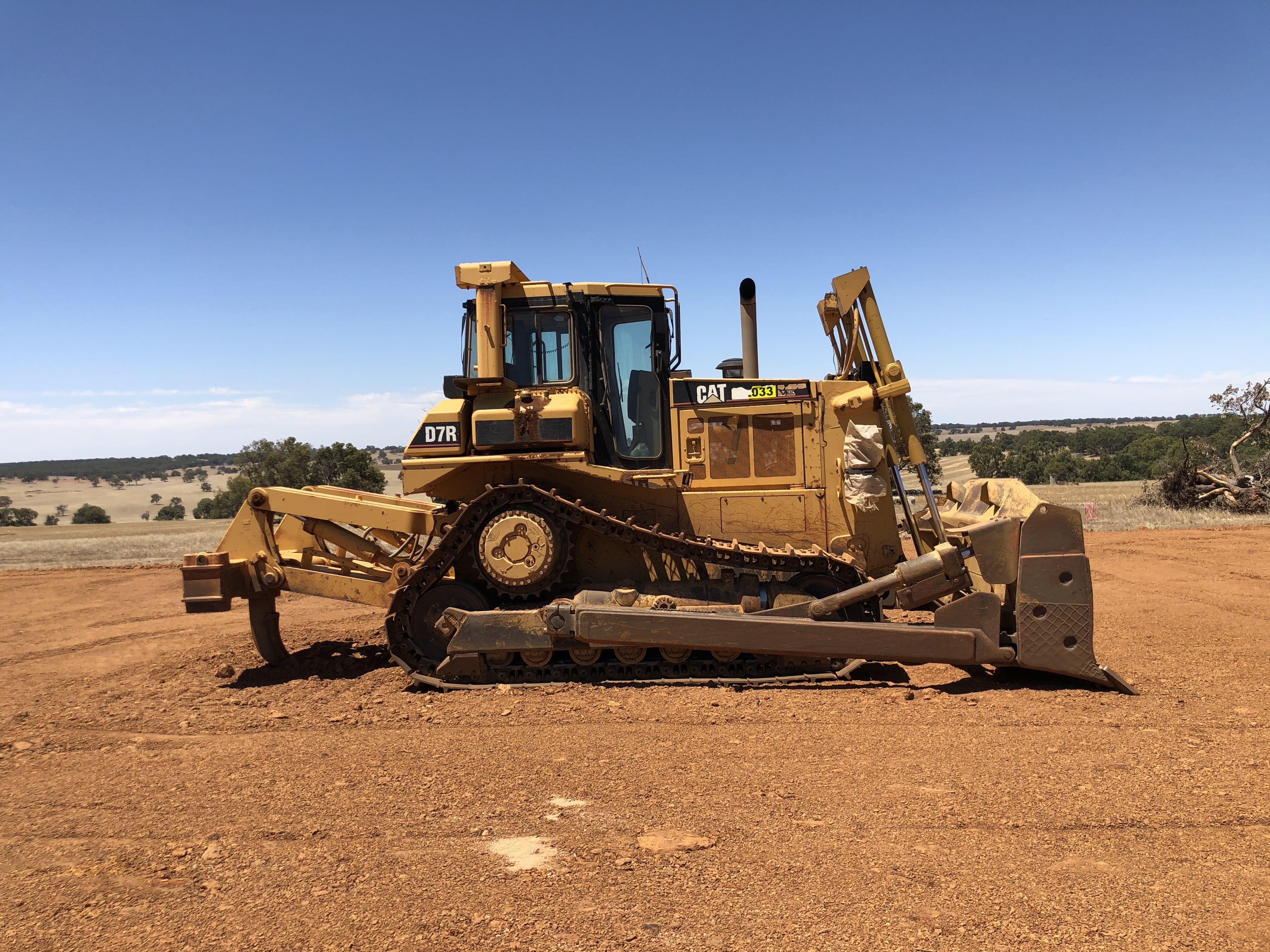D7 dozer hire vernice western australia