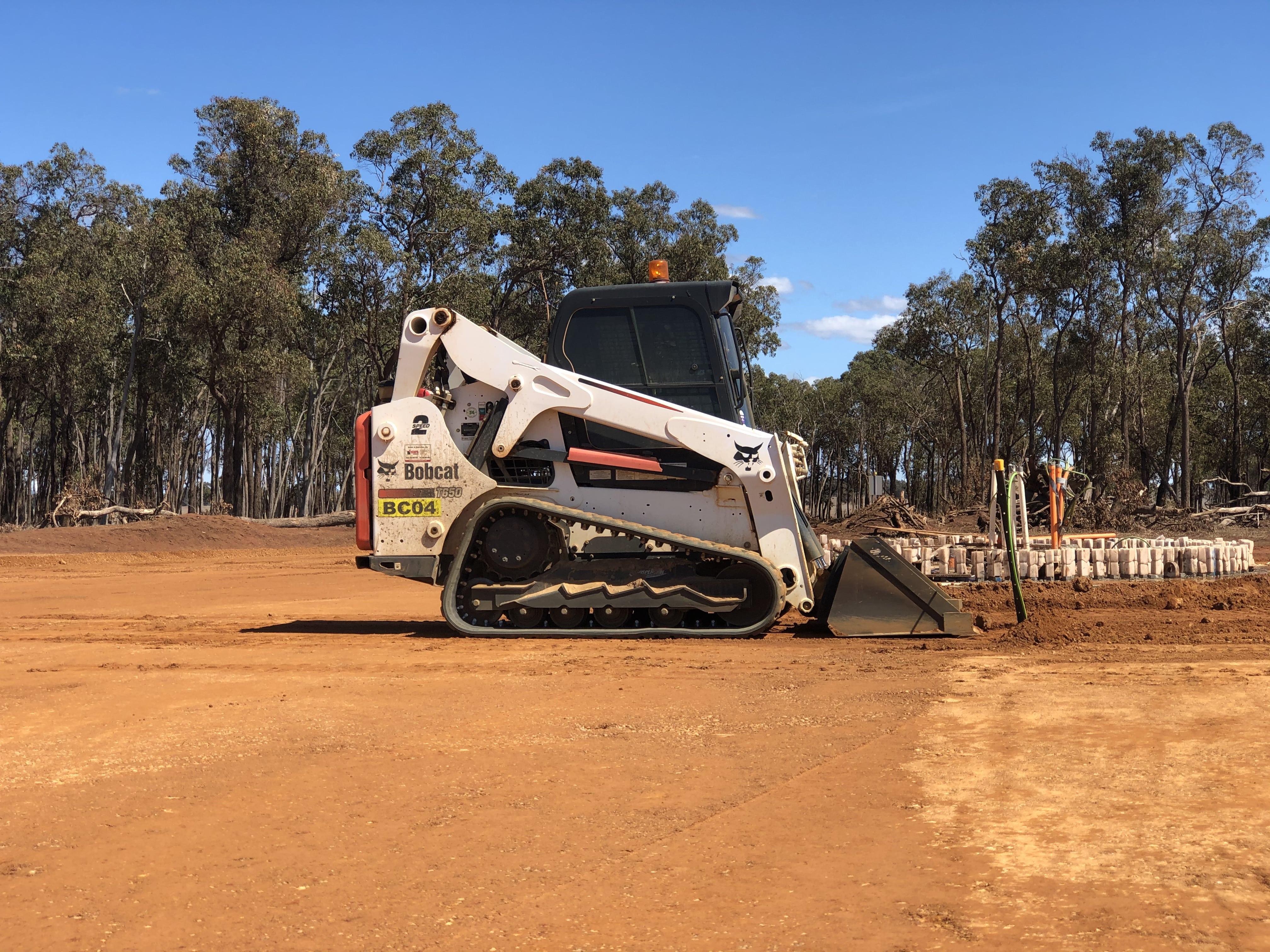 large skid steer hire vernice western australia