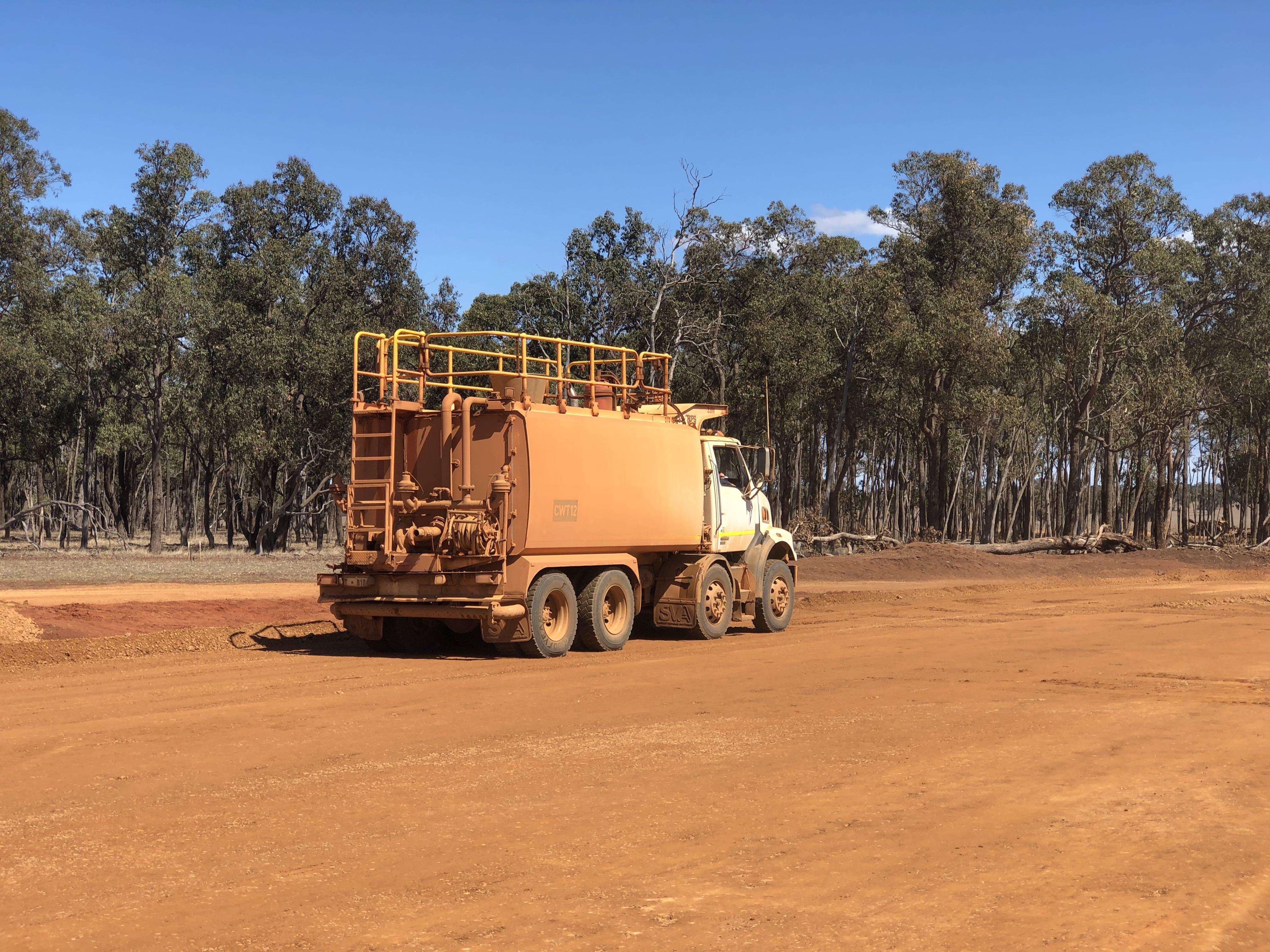 35000L water cart hire vernice western australia