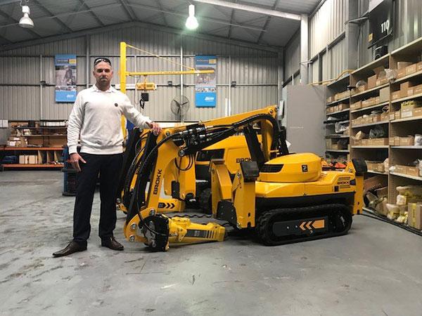 Industry West Brokk Demolition Robot