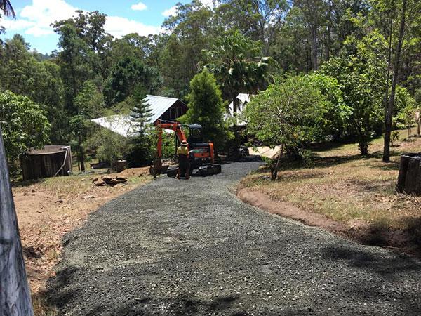 Koker-Civil-Excavator-on-residential-earthmoving-site-Byron-Bay