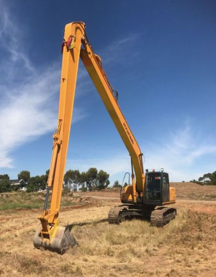 Long Reach Excavator for Hire