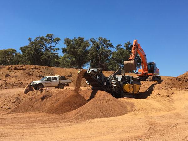 Crusher and excavator