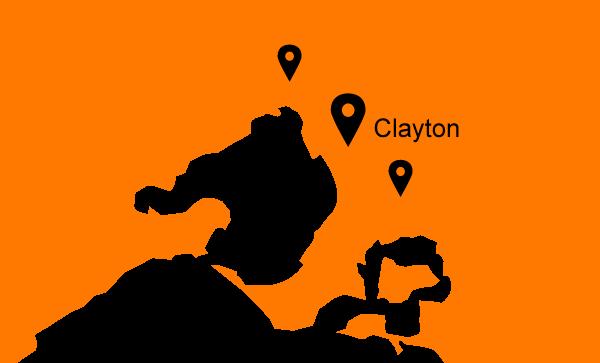 Mini-Plant-Hire-VIC-Map-Clayton