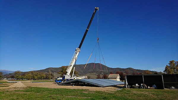 National-Cranes-and-Engineering-roof-material-install-lift-crane-hire
