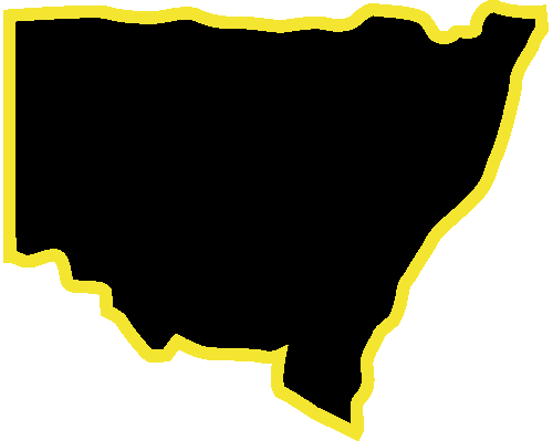 NSW Map Outline