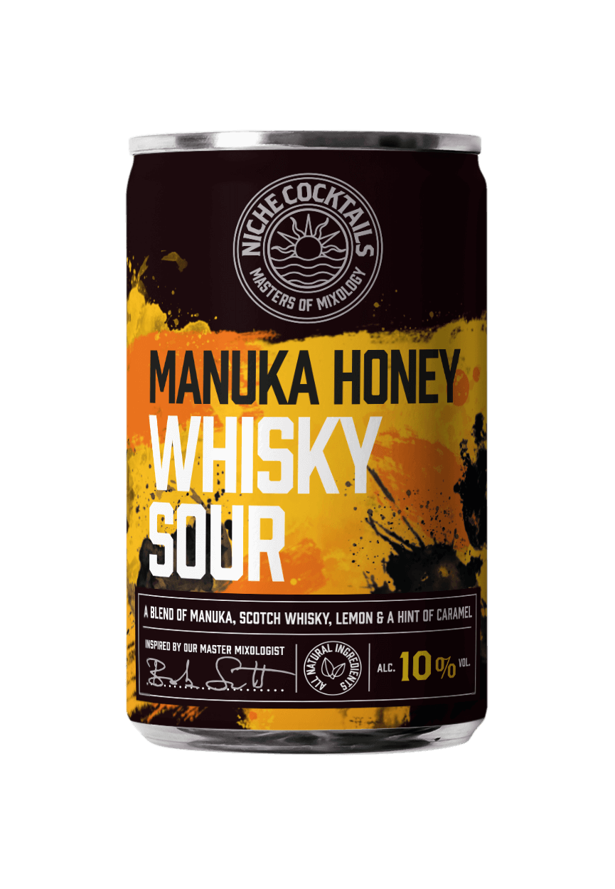 Manuka Whisky Sour Canned Cocktail.