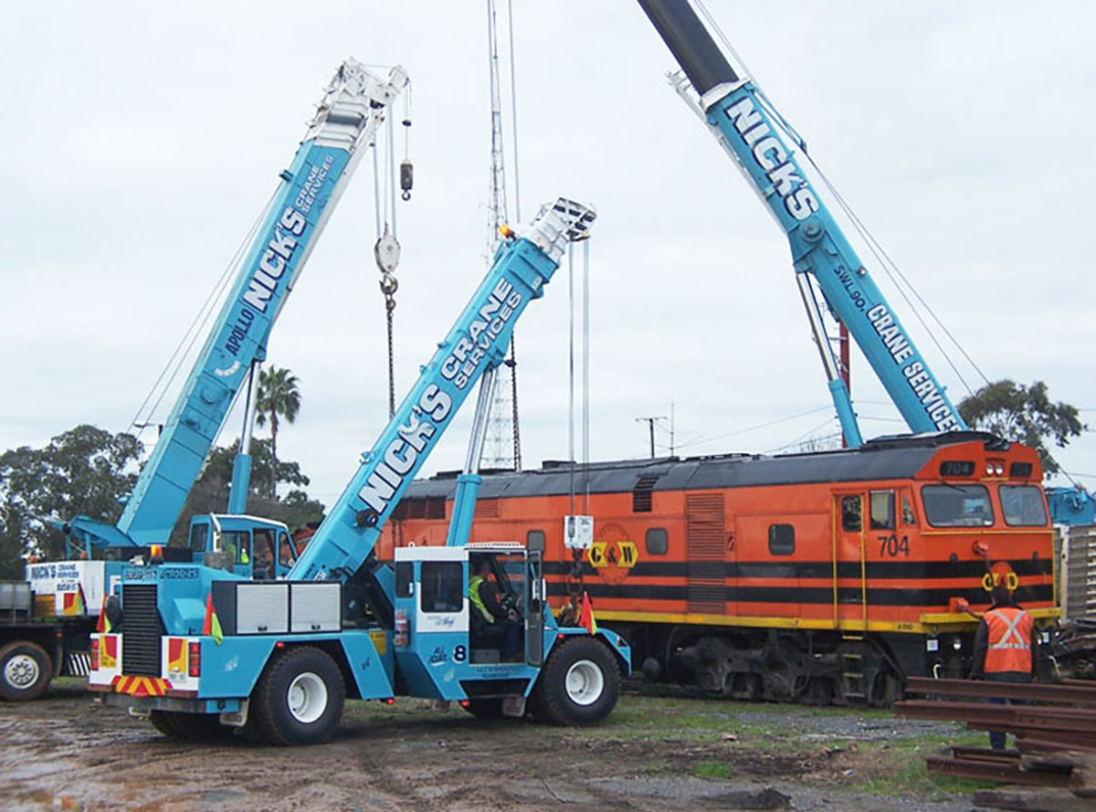 Nicks-Cranes-Services-franna-hire-fleet-train-Adelaide