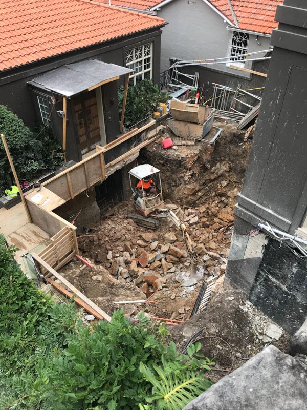 Yard excavation