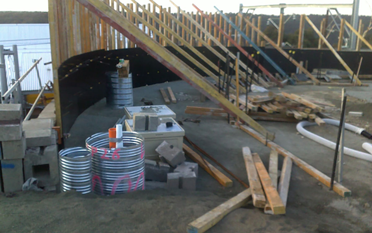 Northern-Contracting-Group-Concrete-Construction-with-wooden-supports-Sydney