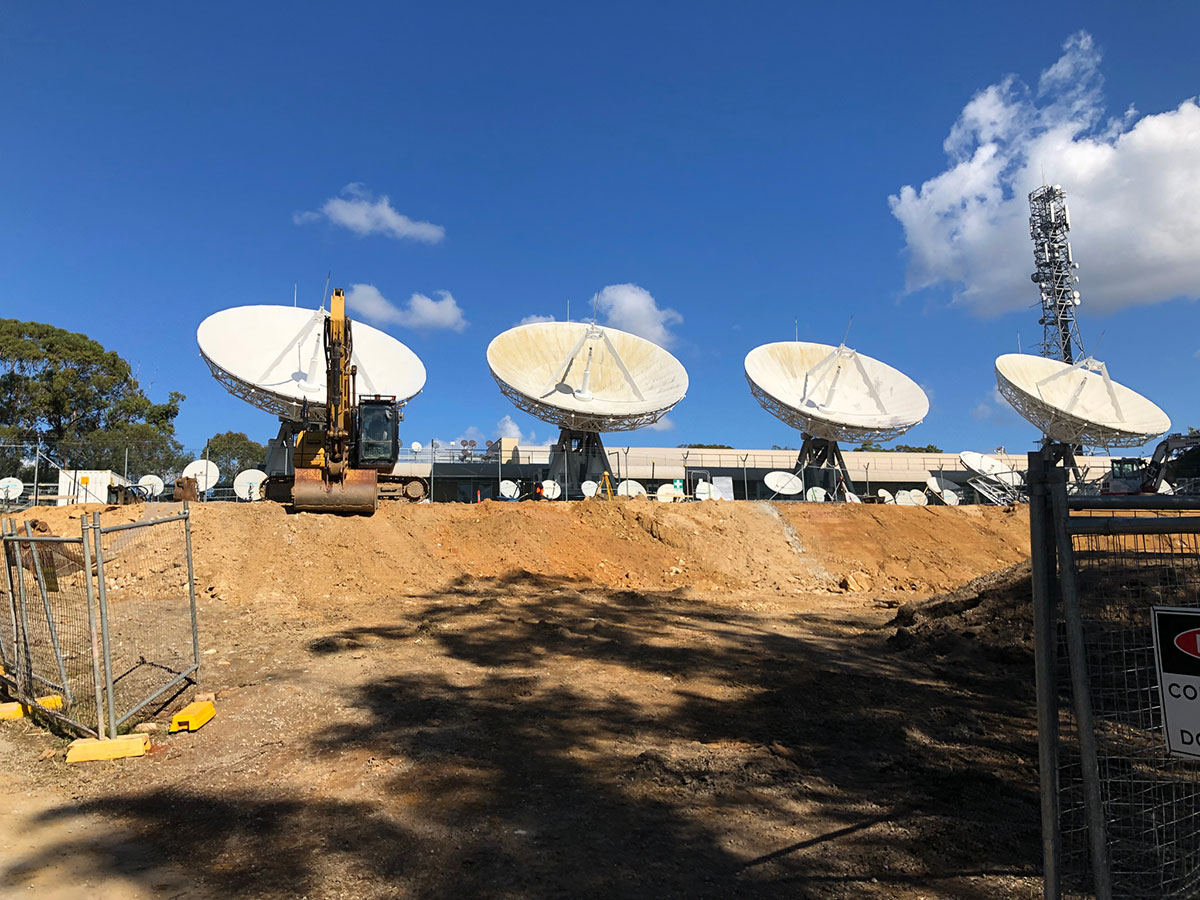 Northern-Contracting-Group-Earthworks-in-front-of-satellite-dishes-Sydney