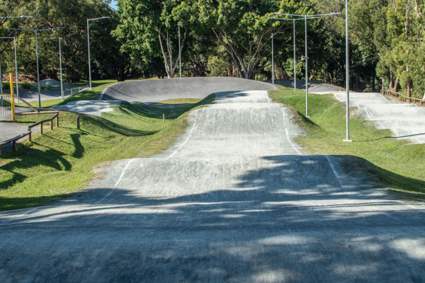 Outdoor BMX track