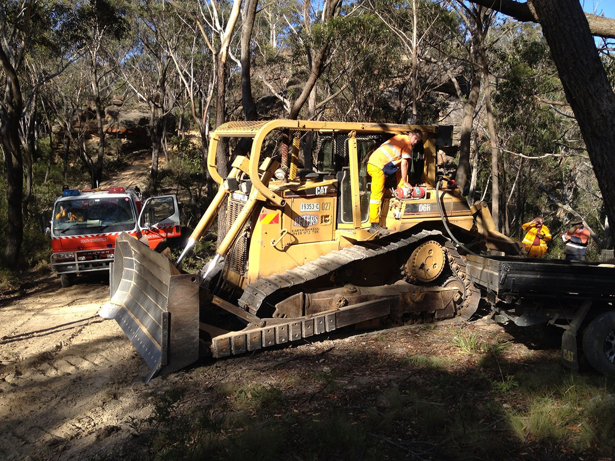Peters Earthmoving Cat dozer with operator