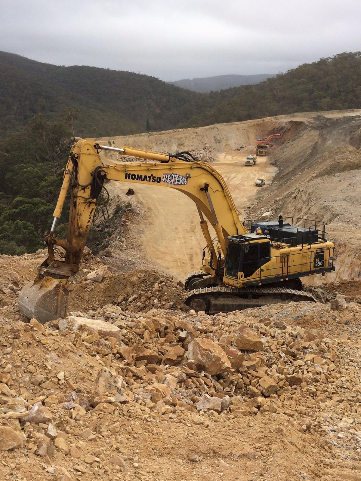 Peters Earthmoving Excavator digging