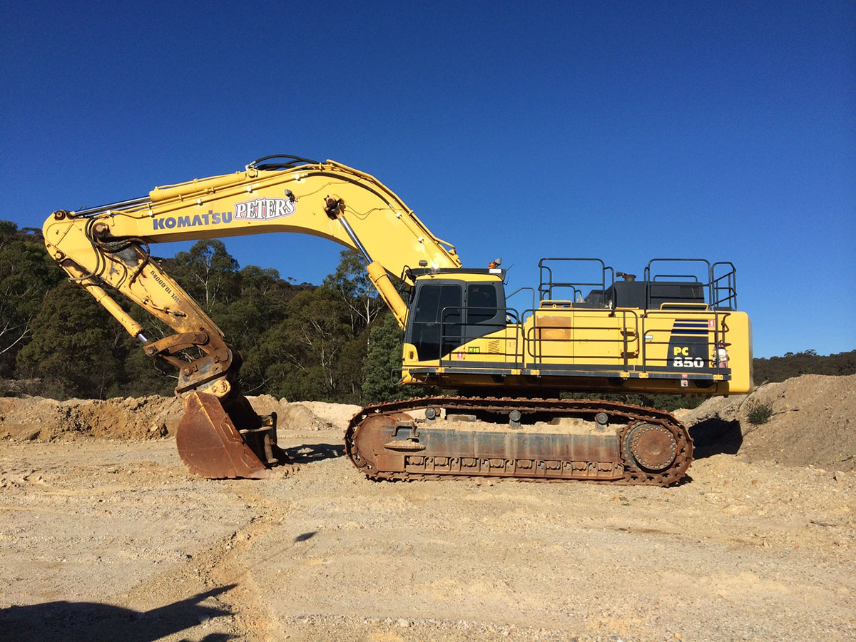 Peters Earthmoving PC 850 excavator