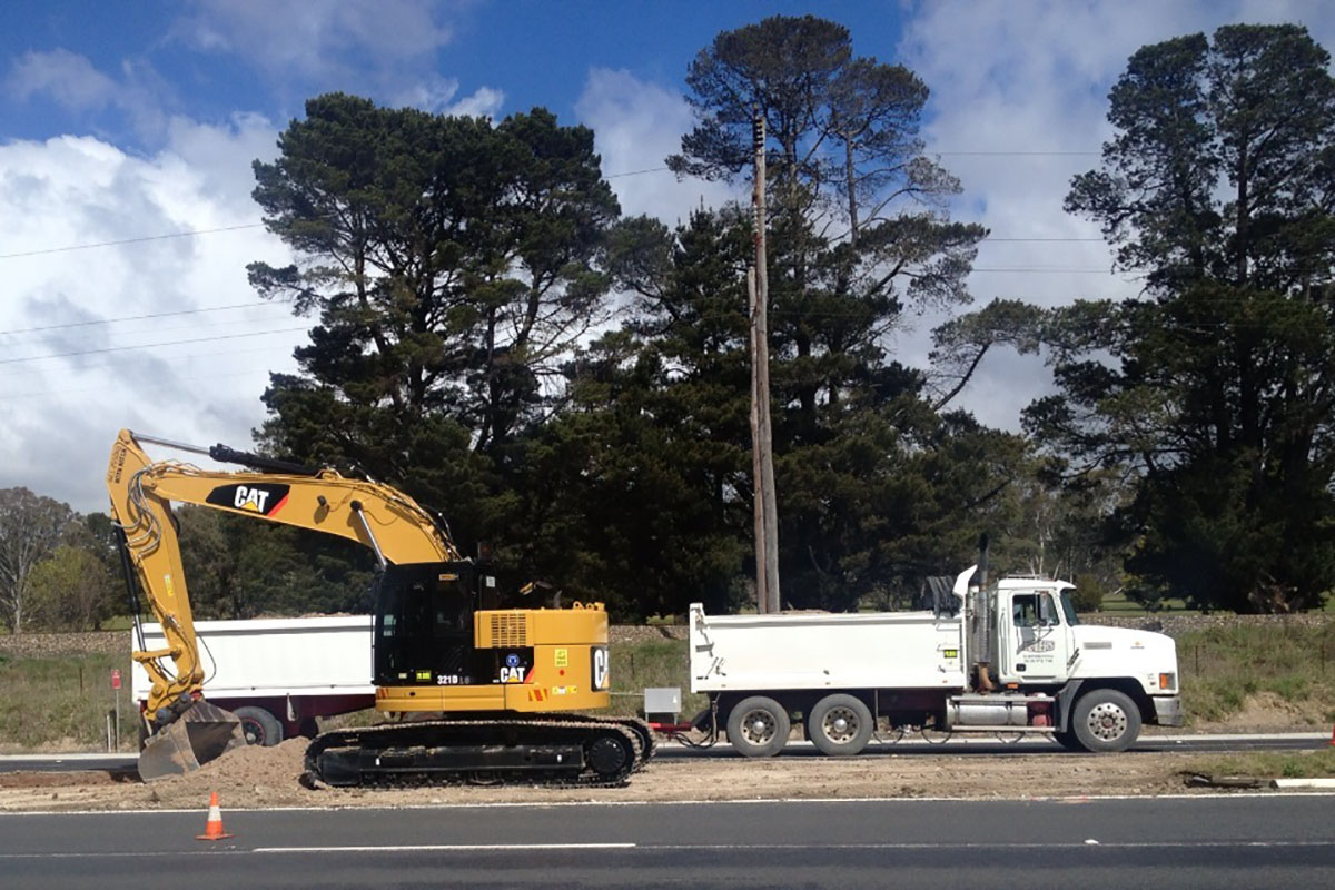 Peters Earthmoving excavator and truck