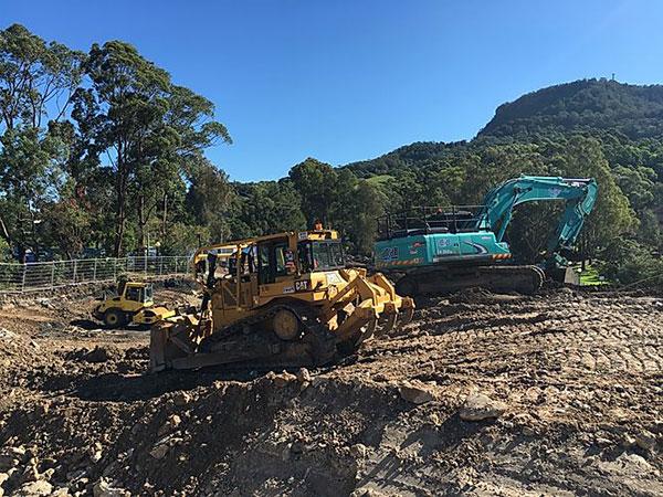 plant shift excavator dozer heavy haulage nsw bateman bay