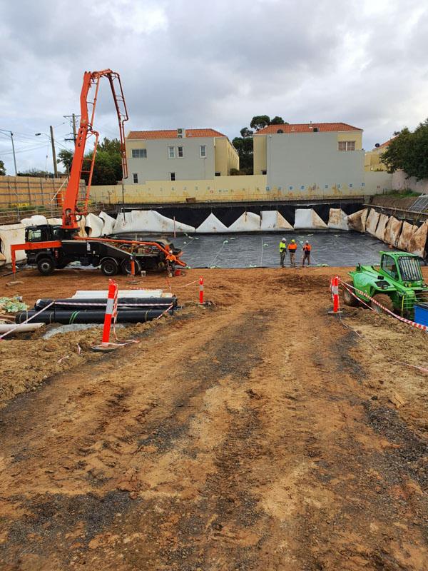 Civil construction site