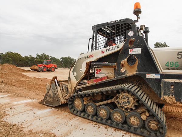 A-P-Delaney-Loading-Truck-Front-loader-hire-albury