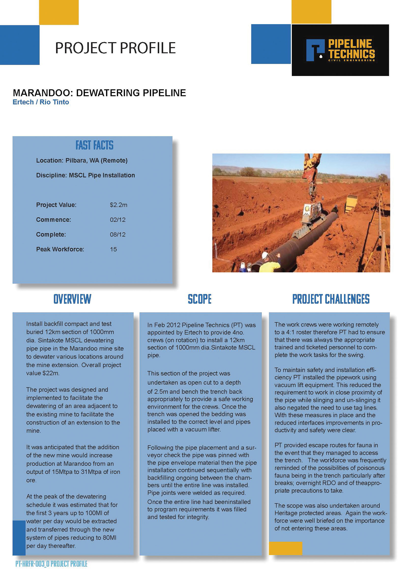 Pipeline-Technics-Project-Mullaloo