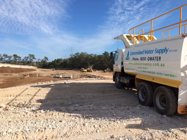 Water Truck on site Queensland Water Supply