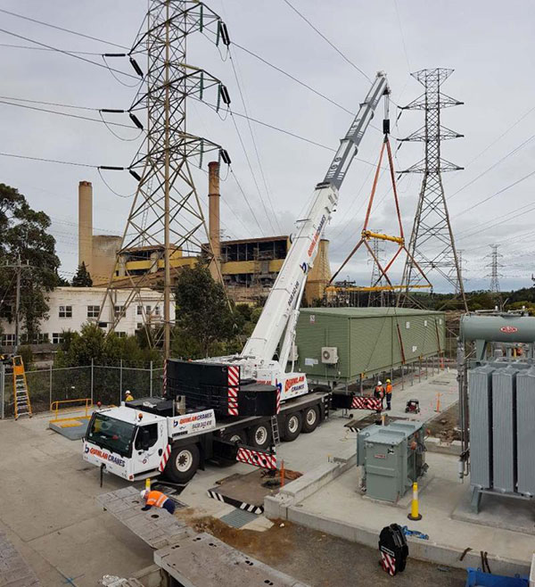 Quinlan-Cranes-generator-shed-mobile-crane-truck-hire-Melbourne