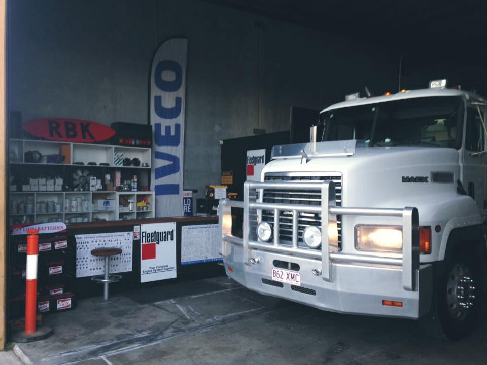 RBK-Heavy-Diesel-mack-truck-in-shop-for-repair Gold Coast