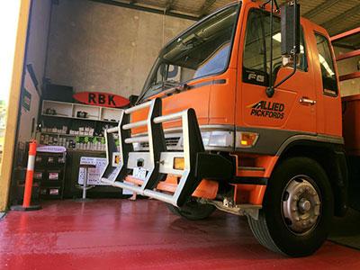 RBK-Heavy-Diesel-truck-in-shop Gold Coast