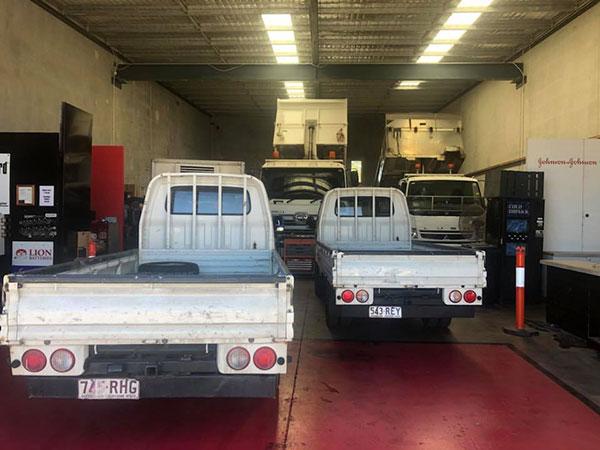 RBK-Heavy-Diesel-trucks-in-repair Gold Coast