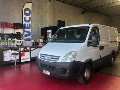 RBK-Heavy-Diesel-van-in-shop Gold Coast