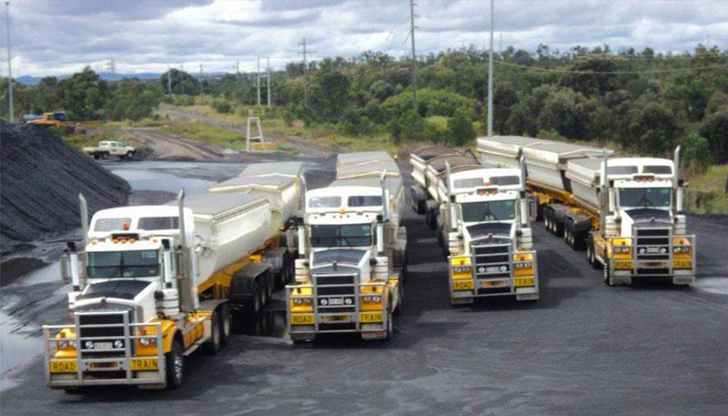 Fleet of Kenwood trucks